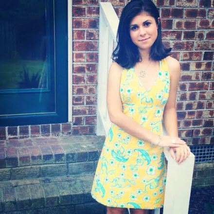 This was taken in my backyard, I got this Lilly dress last summer and it's still one of my favorites.